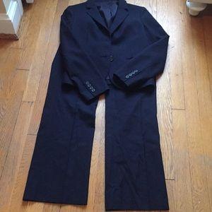 Perfect Jcrew navy pantsuit.